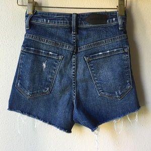 Aritzia Shorts - Aritzia Paradise Mine Super High Rise Jean Shorts